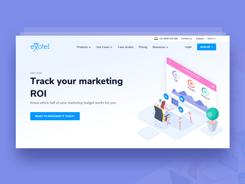 Track your marketing ROI illustration