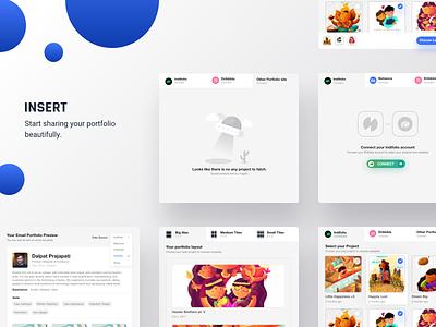 Insert: Portfolio extension for Designer gmail mail designer email portfolio indiefolio insert