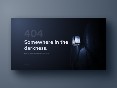 404 Page for stepsmedia darkness state empty design page web error 404