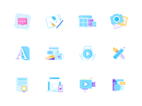 Some icons for iconscout