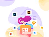 Icondrop illustration