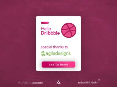 Hello Dribbble branding illustration design icon flat agiledesign hello world invitation for the invite thank you hello dribble