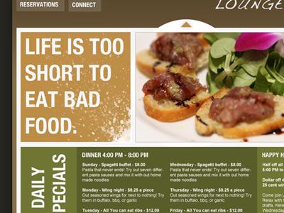 Restaurant layout resturant web layout typography food restaurant