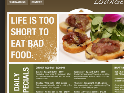 Restaurant layout resturant web layout typography food restaurant