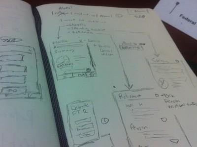 Mobile App Planning Party mobile sketch mockup app