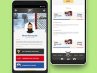 Profile page mockup with for fake hockeyfights app.