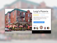 Google Restaurant Card