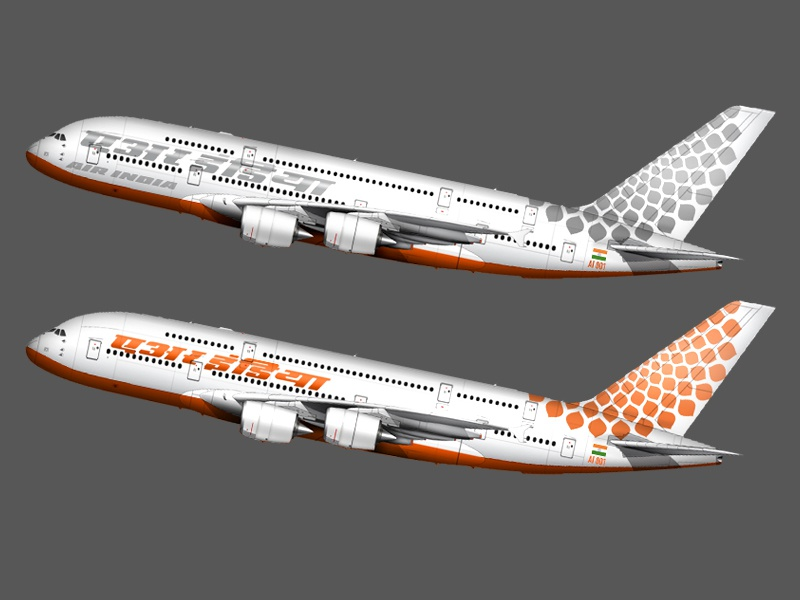 Airline Livery 2 airbus a380 air india