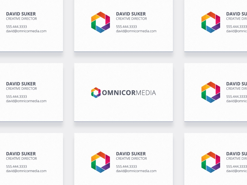Omnicor Media Business Cards card business