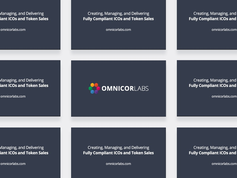 Omnicor Labs Presentation Cards business card