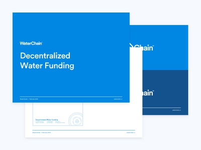 WaterChain Brand Guidelines brand guidelines brand