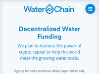 Waterchain mobile website