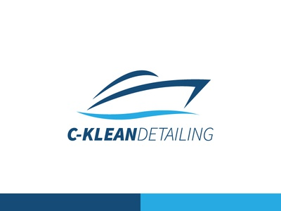 C-Klean Detailing boat blue logo