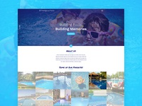 Prestigious Pools - Website - Home Page Design