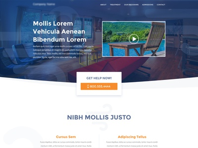 Home Page Mockup for Mental Health Facility cta hero home page