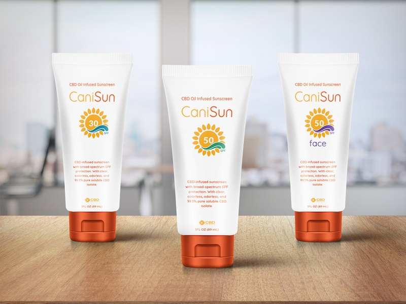 CaniSun Package Mockup bottle mockup sunscreen cbd