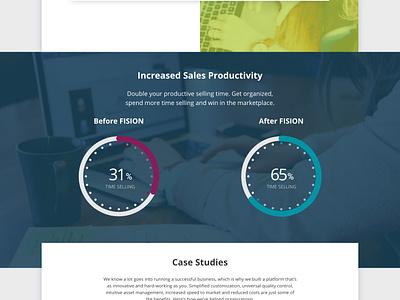 Fision - Website Design social proof home page web design