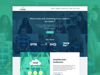 Fision - Website Design social proof home page web design