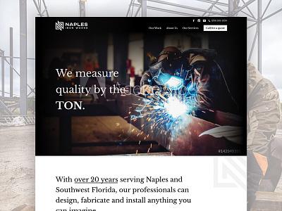 Naples Iron Works Website Design welding iron naples website design website