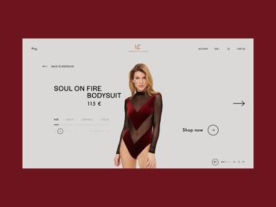 PRODUCT PAGE UNDRESS CODE ux website design web design ui design minimal website web ui branding design