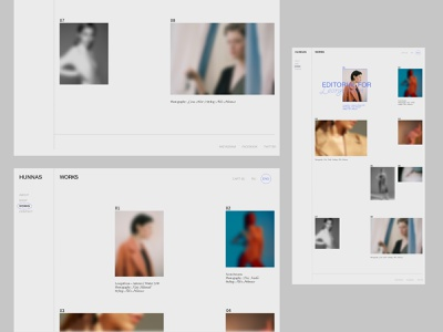Brand experiments for HUNNAS, Fashion Designer & Stylist web design minimal ux website design gallery fashion ui design website ui branding design