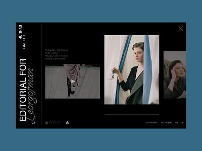 Gallery Page, HUNNAS, Fashion Designer & Stylist fashion ux fashion design gallery web design ui design minimal website ui branding design