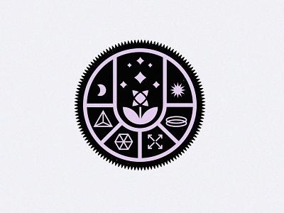 Flower Power flower illustration flower circle branding moon sun magic design vector minimal icon flat illustration