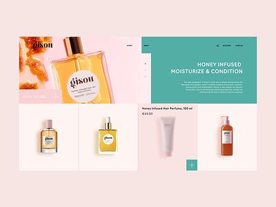 GISOU Design Concept shot cosmetic minimalist simple web design website web shop interface ecommerce shop ecommerce app ecommence design ui app concepts