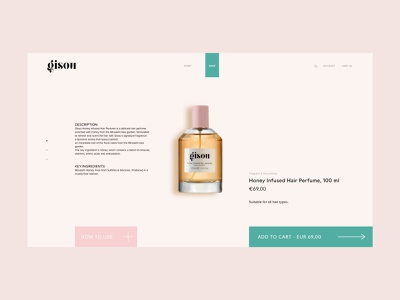 PRODUCT PAGE GISOU fashion website web design cosmetics fashion ui design uxui ui web website branding design