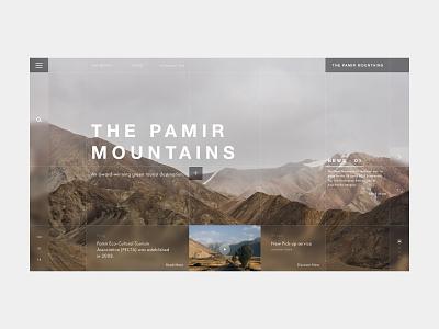 Travel home page concept travel website travel mountains website design web design ui design minimal website web ui branding design