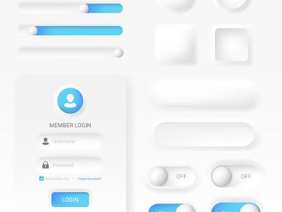 Buttons webdesign modern blue interface white cartoon mesh illustration vector illustrator design ux ui buttons