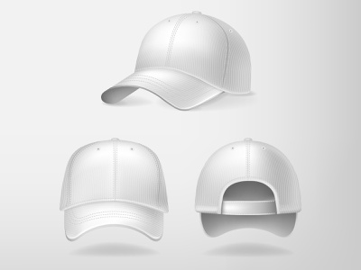Cap realistic mesh illustration vector illustrator design baseball cap cartoon clipart white hat