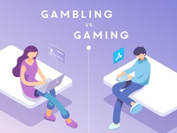 "Part of an infographic ""Gambling vs. Gaming"""