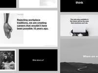 Presentation design for a collaborative project
