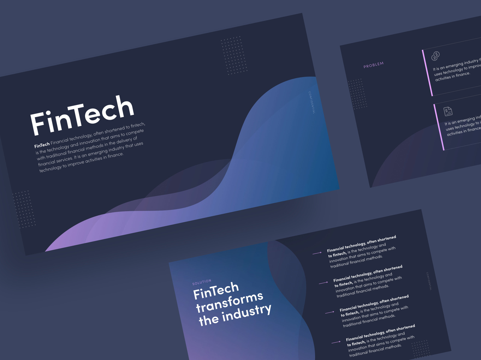 FinTech Pitch Deck by Katya Kovalenko on Dribbble
