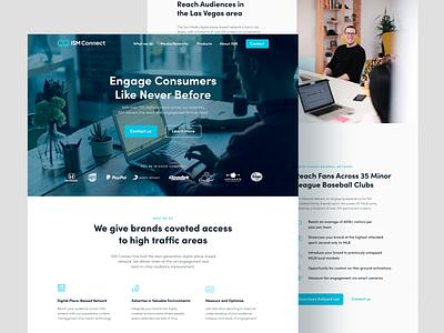 ISM Connect Website Design web design web landingpage landing one page site one page website onepager onepage tech website startup