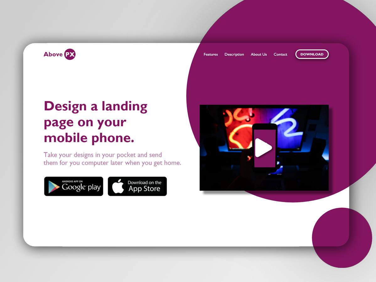 Daily Ui 3 - Landing Page webdesign ux uxui adobe xd ui flat design dailyui