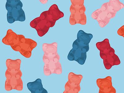 Gummy Bear Illustration drawing candy gummy bears fun bright procreate ipad illustration