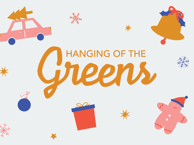 Hanging of the Greens marketing poster design poster type typography holidays christmas art illustration