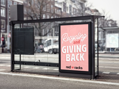 Red Racks Advertisement poster design minimal type poster flyer advertising advertisment branding typography