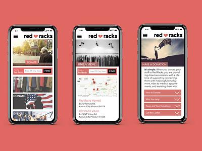 Red Racks Mobile Website/App Design site design site app concept mockup iphone website design website mobile design mobile app identity brand design logo design rebrand
