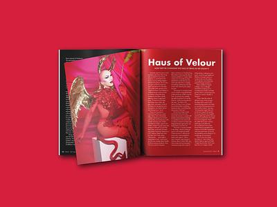 Werk Magazine Sasha Velour Spread layout design layout lgbtqia lgbtq lgbt werk magazine deisgn magazine spread magazine publication design publication drag race ru paul rupaul race queen drag