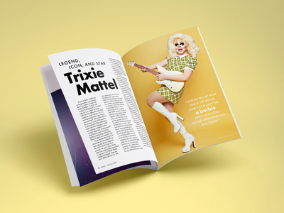 Werk Magazine Trixie Mattel Spread spread queen drag race ru paul rupaul drag lgbtqia lgbtq lgbt mattel trixie magazine design magazine publications layout design layout publication design publication werk