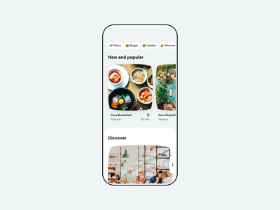 Favorite sites design ui minimal restaurant save app
