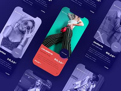 Celebids App art direction design ux celebrities ui app ecommerce