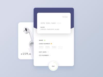 Daily UI #002 - Credit Card Checkout visa daily ui buy airpod apple checkout card credit