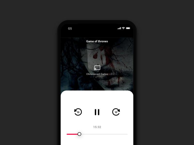 Daily UI #025 - TV App chromecast 025 daily ui app hbo tv