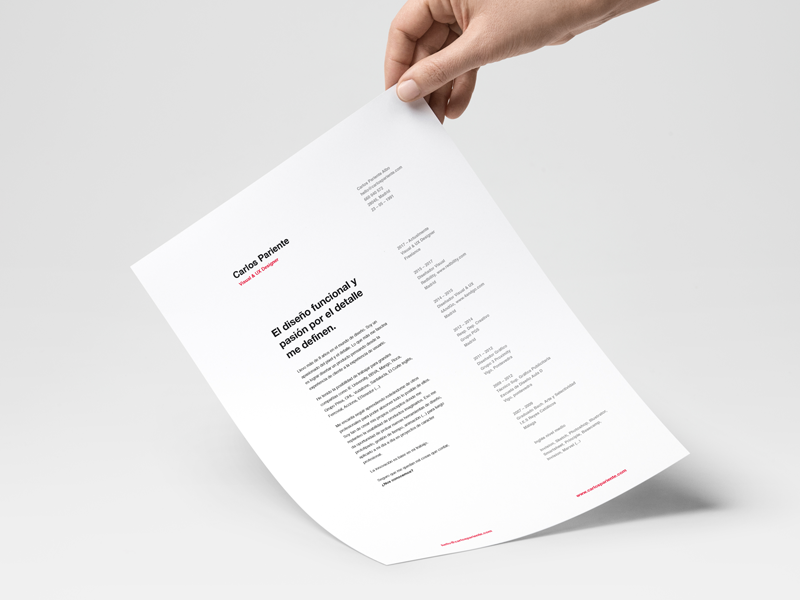 My resume: Clean and minimal. typography personal helvetica clean resume minimal