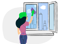 Illustration for cleaning company