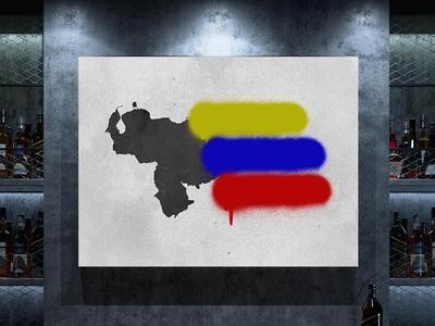 Venezuelan Flag Graffiti